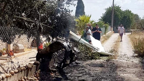 It was not known what caused the collision between the aircraft