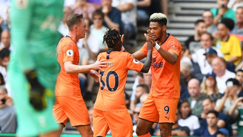 Joelinton (r) scored the only goal of the game