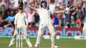 England's Ben Stokes celebrates