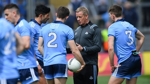 Darcy giving players instructions in this year's Leinster Championship