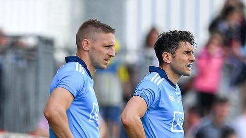 Eoghan O'Gara (L) with Bernard Brogan