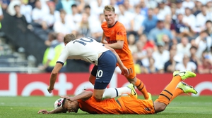 Harry Kane felt he was fouled in the penalty area against Newcastle but referee Mike Dean waved play on