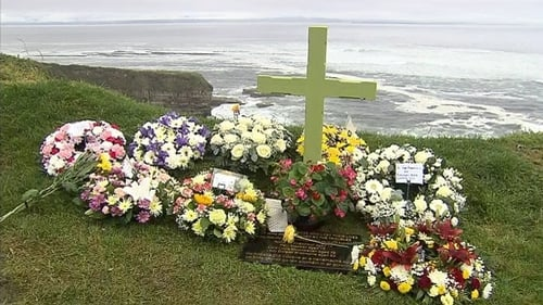 The service was held overlooking the sea where the four people were killed 40 years ago