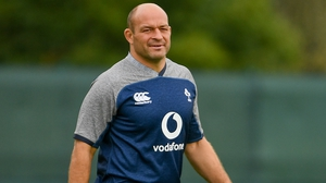 Rory Best at training on Tuesday