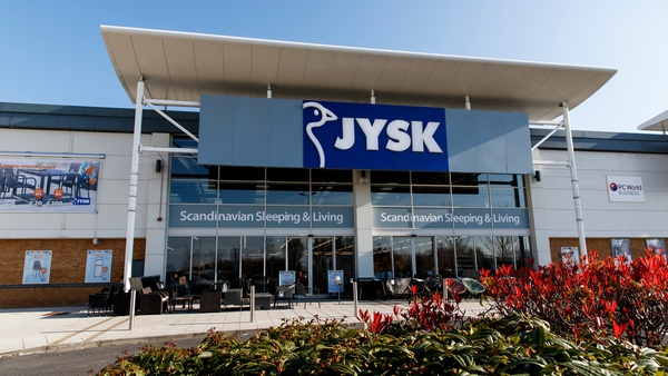 JYSK's first Irish store to open was Naas