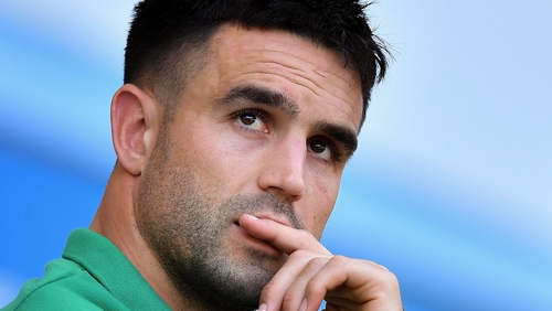 Conor Murray sat out the second half of Ireland's defeat to England