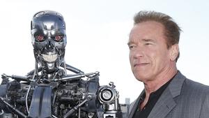 Arnold Schwarzenegger and friend