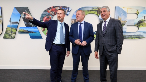 Micheál O'Connor, Vice President and General Manager, Jacobs Ireland; Minister for Agriculture, Food and the Marine, Michael Creed TD and Steve Demetriou, Chair and CEO, Jacobs