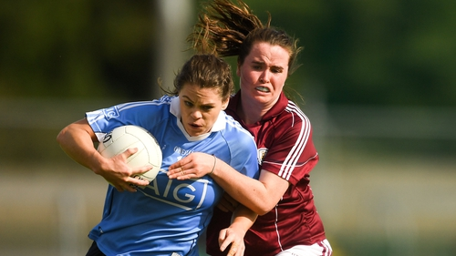 Noëlle Healy of Dublin in action against Nicola Ward of Galway in action during last year's senior semi-final