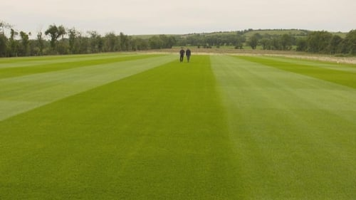 The perfectly manicured turf in the Naul