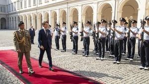 Italian Prime Minister Giuseppe Conte arriving at the Quirinal Palace in Rome today to meet President Sergio Mattarella