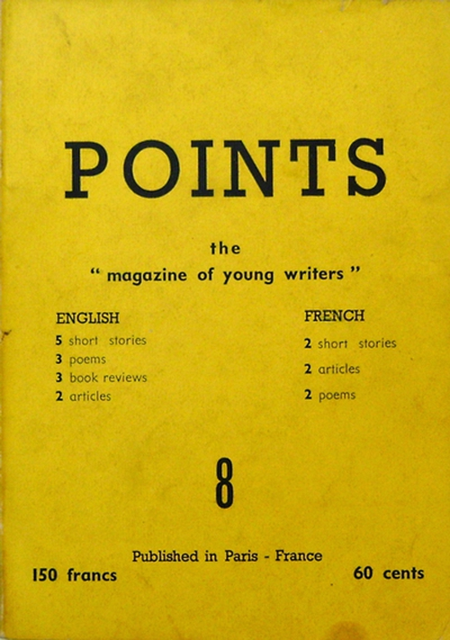 Points 8 magazine which features  the short story 'After The Wake'.