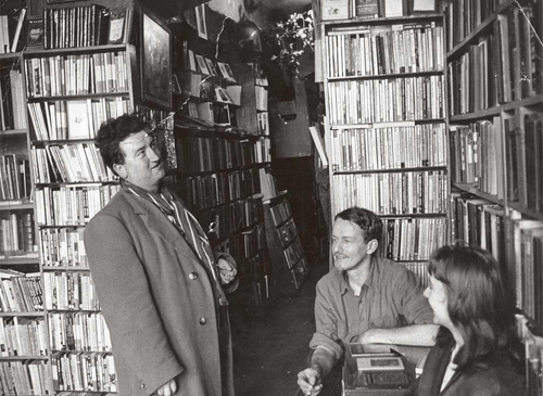 Brendan Behan With George Whitman (courtesy of Shakespeare and Company Paris Archive).Not to be used without permission.