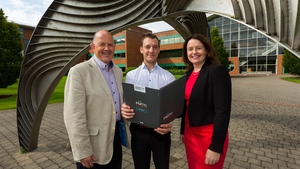 Pat Macken, Chair, PMTC, Darren Whitaker, Perceptive Engineering Limited and Sarah Hayes, Director, PMTC