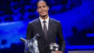 Virgil van Dijk has been crowned UEFA Men's Player of the Year for 2018/19.