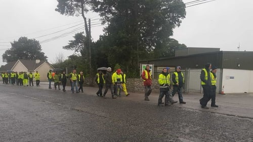 Farmers have been staging pickets outside meat plants for more than 11 days