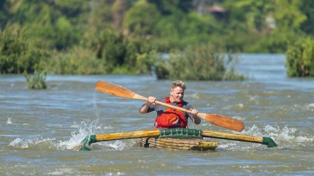 Ramsay making his way down the Mekong River, Laos (National Geographic/Jock Montgomery/PA)