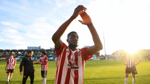 Junior Ogedi-Uzokwe bagged a brace at the Brandywell