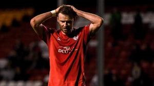 Ciarán Kilduff cuts a frustrated figure at Tolka Park