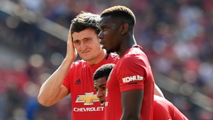 Harry Maguire (L) is a doubt for Manchester United's clash with Bournemouth