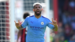 Sergio Aguero has not required any medical treatment and should be okay for Saturday's trip to Crystal Palace.