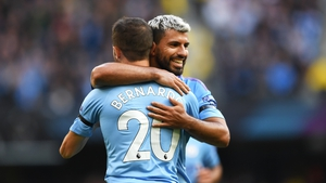 Sergio Aguero and Bernardo Silva were both on target for Man City