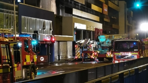 The blaze broke out just before 7pm at the multi-storey carpark in the Douglas Village Shopping Centre