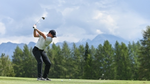Rory McIlroy in action at the Omega European Masters