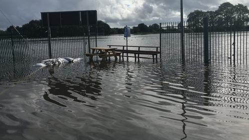 The flooding was caused by heavy rainand high tides overthe past two days