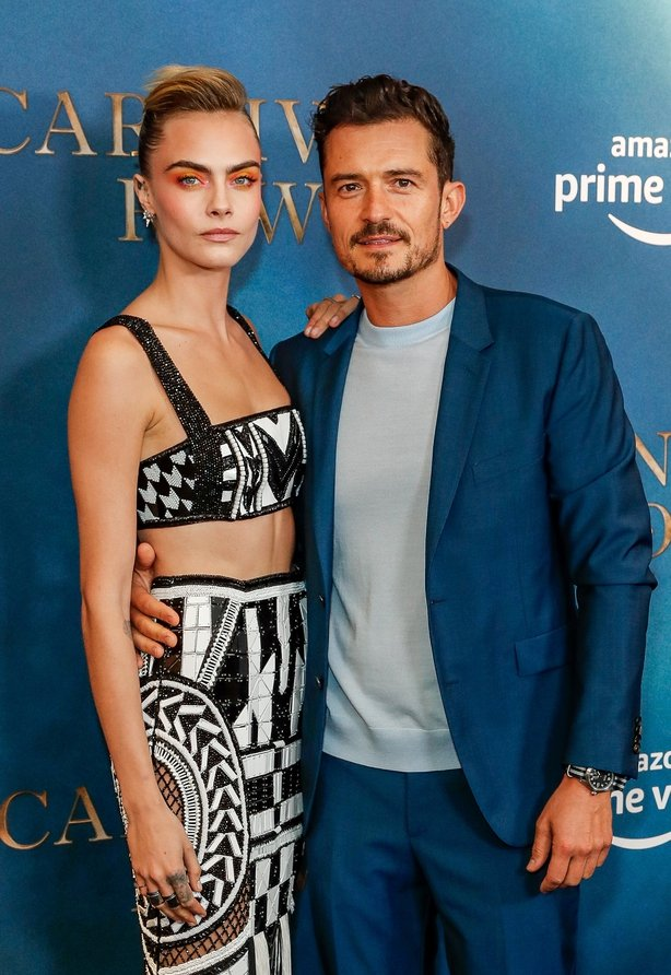 Cara Delevingne and Orlando Bloom