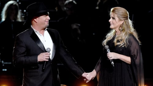 Husband and wife team: Garth and Trisha perform together in 2016