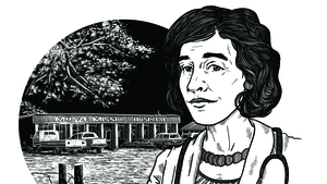 Herstory: Patricia Horne, Medical missionary doctor. Illustration by Szabolcs Kariko.