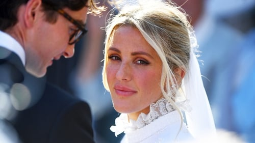 Ellie wed in a regal ceremony over the weekend.