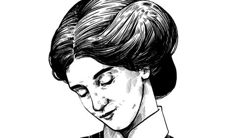 Herstory: Dr. Isabel 'Ida' Mitchell - 1879-1917: Presbyterian missionary. Illustration by Szabolcs Kariko.