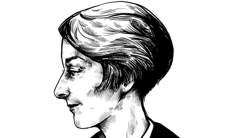 Herstory: Eileen Gray - 1878-1976: Lacquer master, modernist furniture designer, modernist architect. Illustration by Szabolcs Kariko.