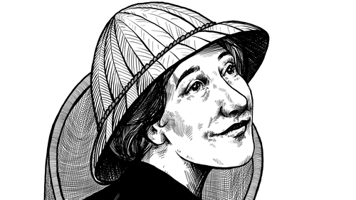 Herstory: Cynthia Longfield - 1896-1991: Entomologist and world traveller. Illustration by Szabolcs Kariko.