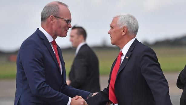 Simon Coveney and Mike Pence