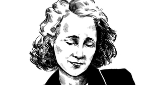 Herstory: Kathleen 'Kay' McNulty - 1921-2006: First female computer programmer. Illustration by Szabolcs Kariko.