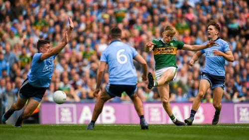 Killian Spillane scores Kerry's goal in the draw with Dublin
