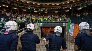 Celtic fans at the Friends Arena