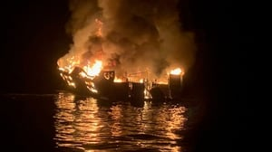 The fire destroyed the boat and killed 34 people