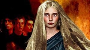 Herstory: Deirdre - Daughter of Fedlimid, storyteller to king Conor MacNessa. Art by Bill Felton for Bard Mythologies.