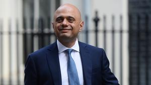 UK finance minister Sajid Javid
