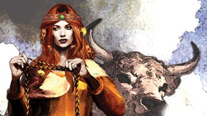 Herstory: Medb - Queen of Connacht. Art by Bill Felton for Bard Mythologies.