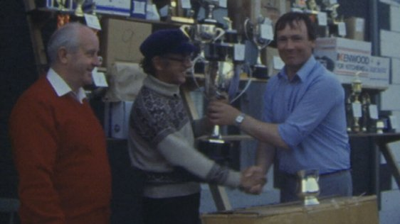 Michael McVeigh is awarded trophy, Belmullet, Co. Mayo (1984)