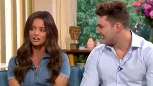"Maura Higgins and Curtis Pritchard - ""We know we're happy, so that's all that matters"" Screengrab: This Morning/ITV"