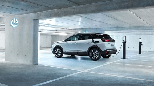 Peugeot's plug-in hybrid has a claimed electric range of 59 kilometres.