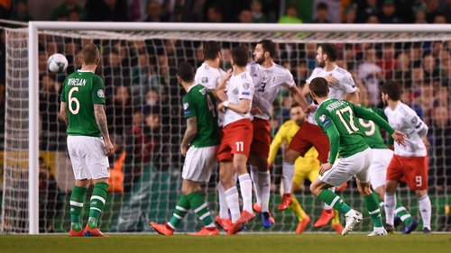 Conor Hourihane found the net from a free kick against Georgia