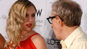 """Scarlett Johansson and Woody Allen (pictured at the Los Angeles premiere of Vicky Cristina Barcelona in August 2008) - """"I have been very direct with him, and he's very direct with me. He maintains his innocence, and I believe him"""""""