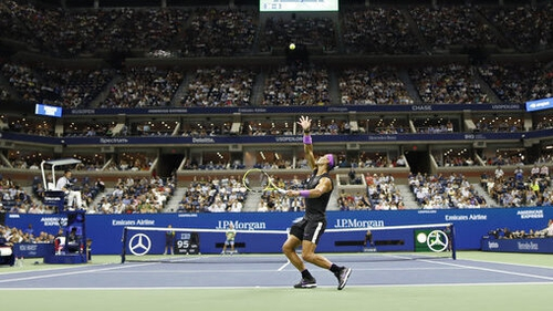 Rafael Nadal is through to the semi-finals at Flushing Meadows
